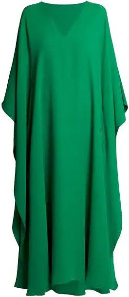 Pure Green Cady Silk Gown-Valentino