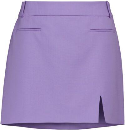 Purple Stretch-Wool Gabardine Miniskirt-The Attico