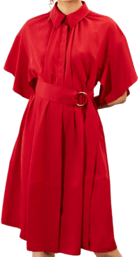Red Belted Pre-Fall 2020 Collection Dress-Adeam