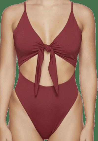 Red Bracken One Piece Swimsuit-Myra Swim