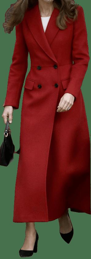 Red Custom Coat-Alexander McQueen