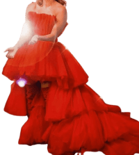 Red Custom Gown-Rocky Gathercole