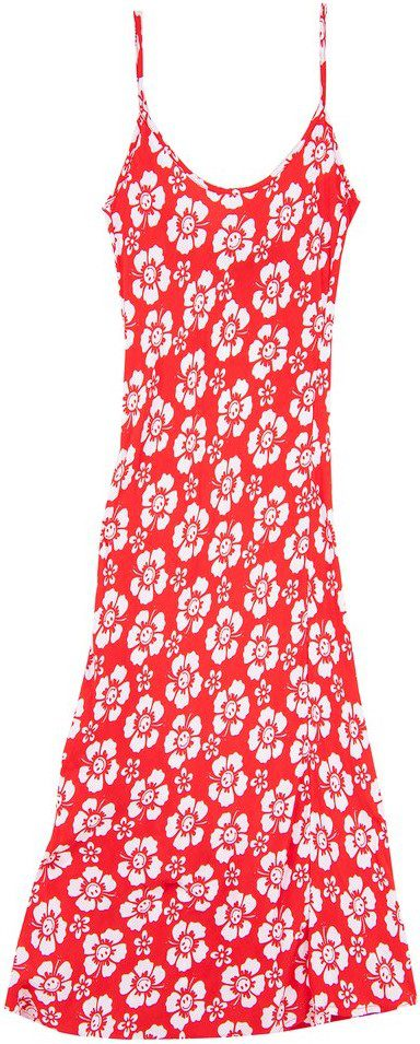 Red Happy Hawaii Vacation Slip Dress-Holiday The Label