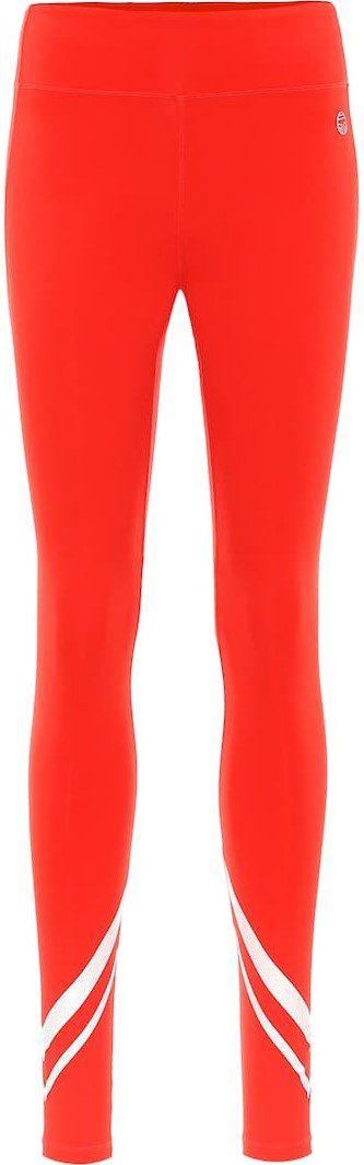Red Technical Leggings-Tory Sport