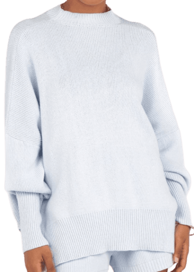 Riley Ice Blue Oversized Knit Sweater-DISSH