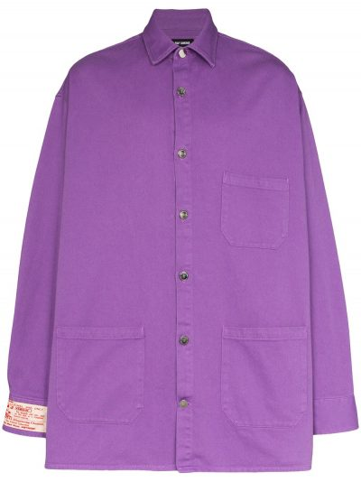 Royal Purple Big Fit Denim Shirt