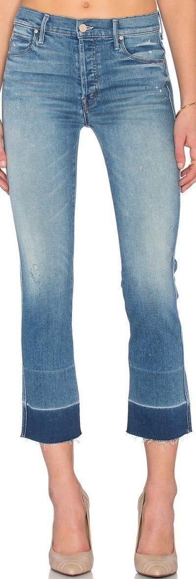 Rumor Has It Tootsie Undone Hem Jeans-Mother