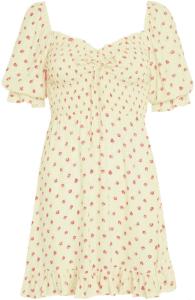 Santa Maria Floral Sage Mini Dress-Faithfull The Brand