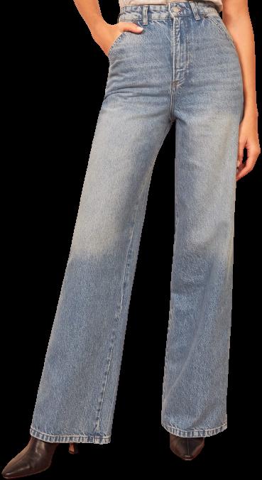 Seychelles Jackie Ultra High-Rise Wide-Leg Jeans