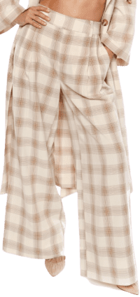 She Loves The Attention Pleated Plaid Pants-The Cara Santana Collection