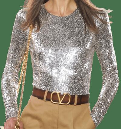 Silver Spring 2021 Sequin Blouse-Valentino