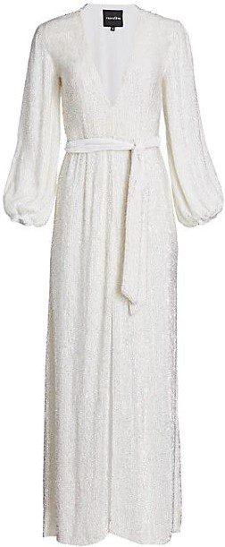 Snow White Margarita Sequin Maxi Dress-Retrofête