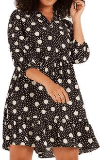 Spot Collarless Dress-F&F