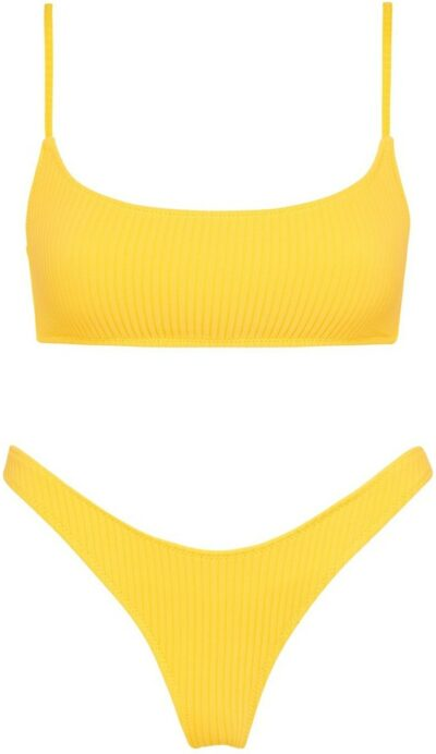 Sunshine Rib Mica Bikini-Triangl