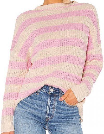 Tan & Pink Stripe Candice Sweater-Lovers + Friends