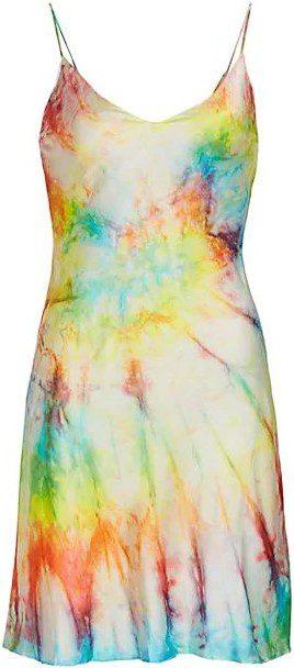 Tie-Dye Silk Mini Slip Dress-Dannijo