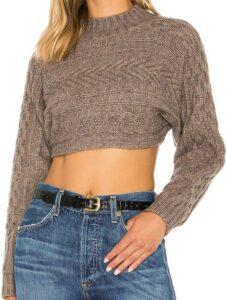 Toast Mila Ultra Crop Sweater-Superdown
