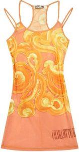 Vortex Swirl-Pattern Stretch-Woven Mini Dress-Charlotte Knowles