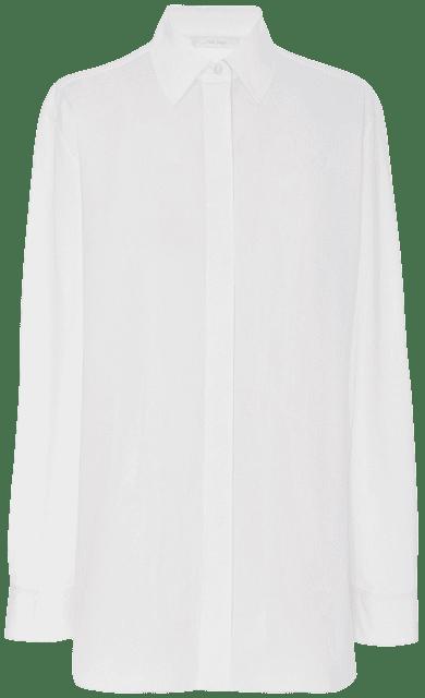 White Big Sisea Shirt in Cotton Poplin-The Row