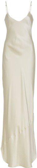 White Cami Silk-Charmeuse Gown