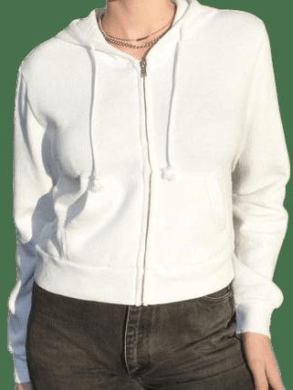 White Crystal Hoodie-Brandy Melville