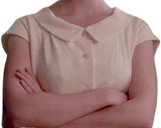 White Custom Peter Pan Collar Blouse