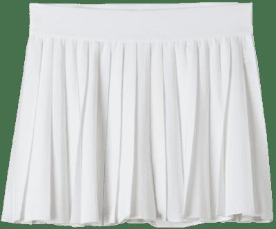White High-Waisted Tennis Skirt-Tna