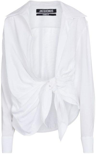 White La Chemise Bahia Cotton Shirt-Jacquemus