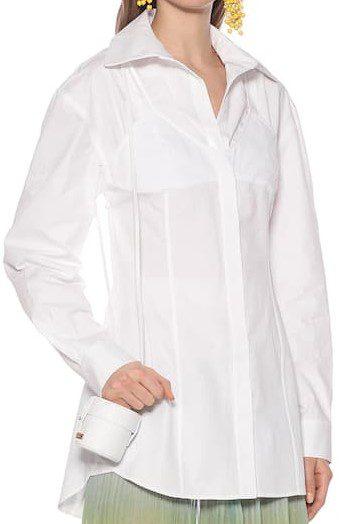 White La Chemise Valensole Cotton Shirt-Jacquemus