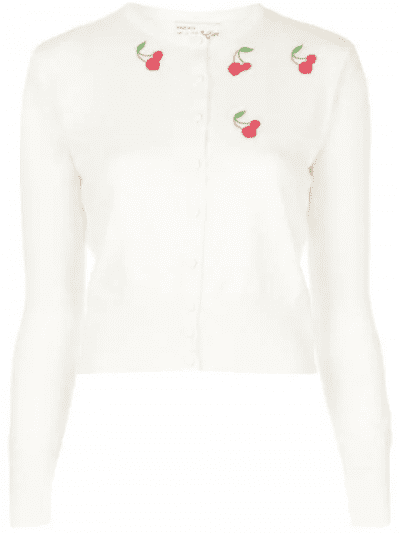 White Laura Embroidered Cardigan
