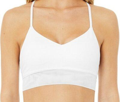 White Lavish Bra-Alo Yoga