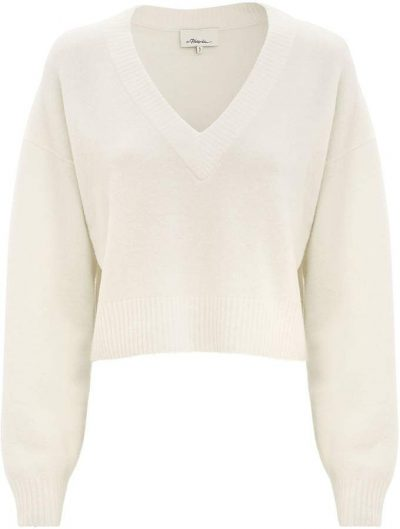 White Lofty V-Neck Sweater-3.1 Phillip Lim