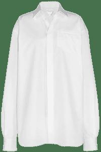 White Long Sleeved Cotton Poplin Shirt-Bottega Veneta