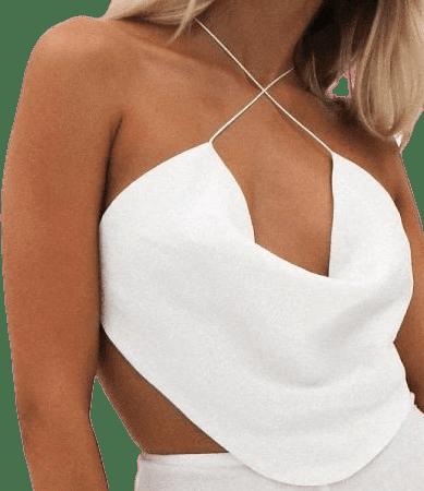 White Minx Crop Top-Natalie Rolt