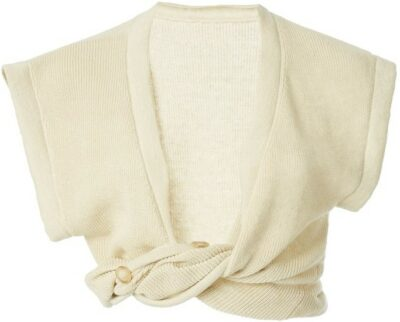 White Noue Twisted Linen Crop Top-Jacquemus