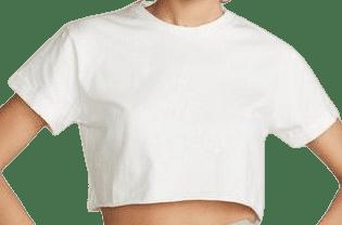 White Rachel Cropped Tee-Belen