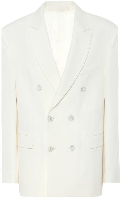 White Release 04 Double-Breasted Blazer-Wardrobe.NYC