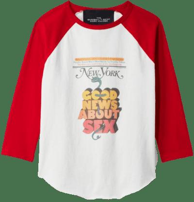 White The Baseball T-Shirt-New York Magazine X Marc Jacobs