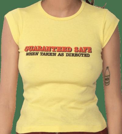Yellow 70s Slogan T-Shirt