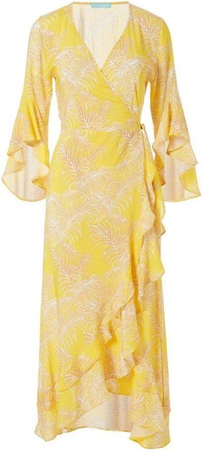 Yellow Cheryl Tropical Long Dress-Melissa Odabash