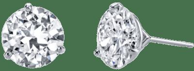 18 Karat White Gold Classico Earrings-Harry Kotlar