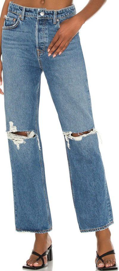 Abbot Kinney Amanda Mid Rise Straight Jeans-GRLFRND