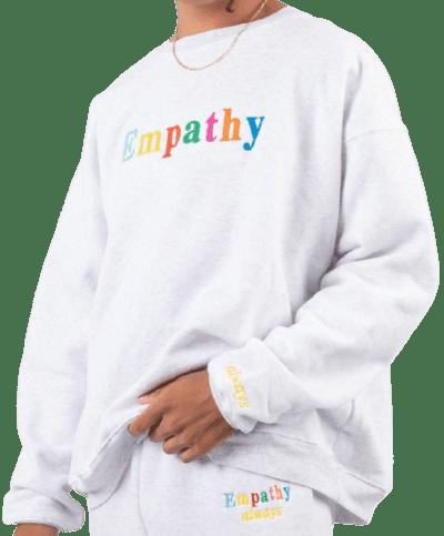 Ash Grey 'Empathy, Always' Crewneck Sweatshirt-The Mayfair Group