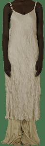 Beige Baroque Pearl Soleil Slip Dress-Peet Dullaert