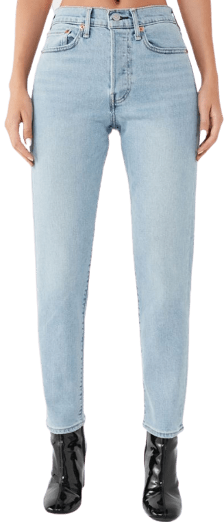 Bauhaus Blue Wedgie High-Rise Jeans