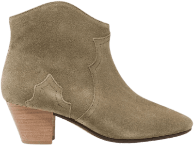 Beige Étoile The Dicker Suede Ankle Boots-Isabel Marant