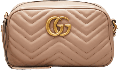 Beige GG Marmont Small Quilted Camera Bag