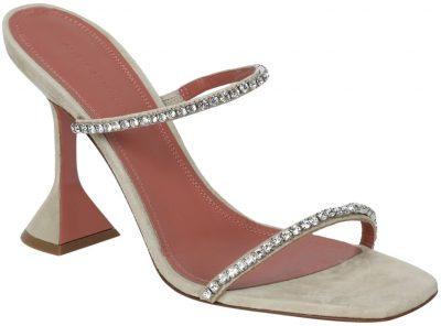 Beige Gilda Embellished Slipper-Amina Muaddi