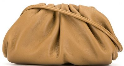 Beige Mini Pouch Crossbody Bag