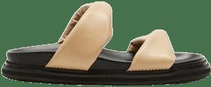 Beige Paris Slide Kid Leather-Alias Mae